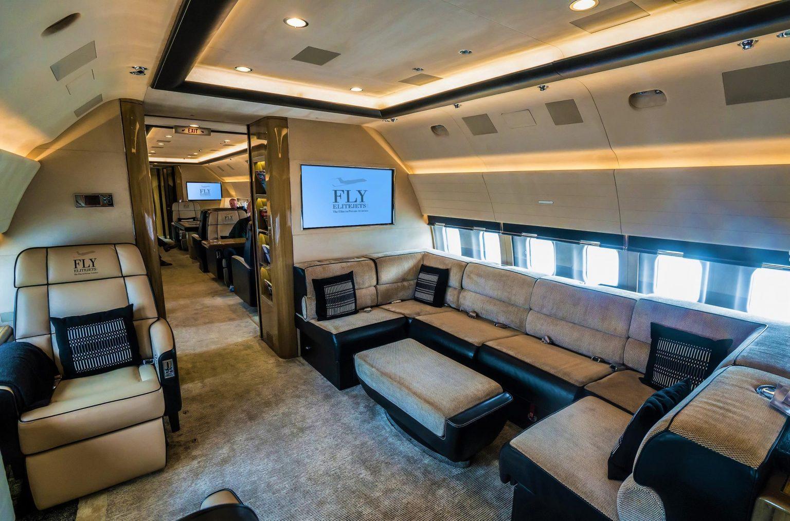 FlyEliteJets BBJ cabin 2