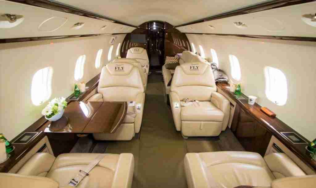 FlyEliteJets Challenger 300 cabin