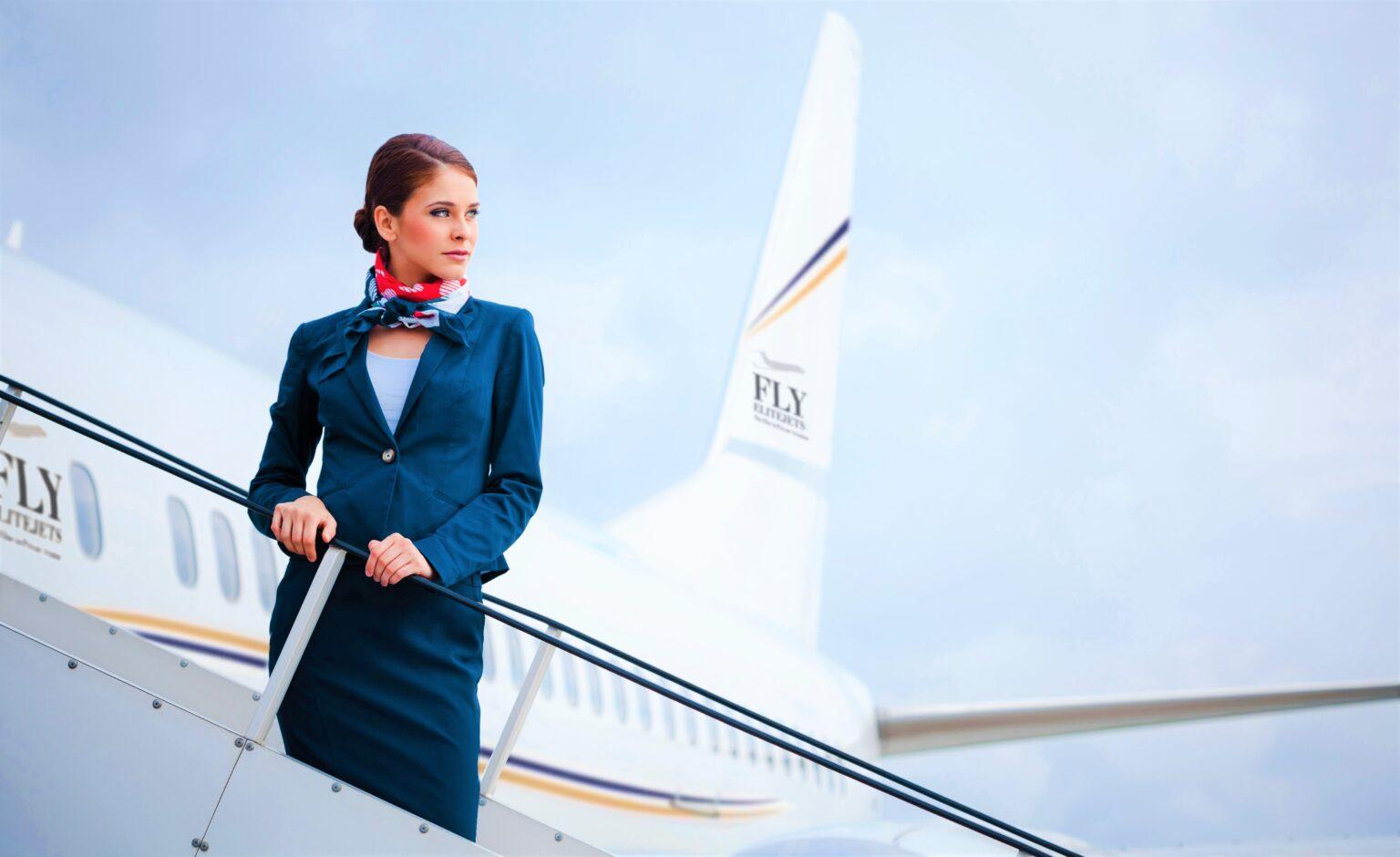 Beautiful air stewardess